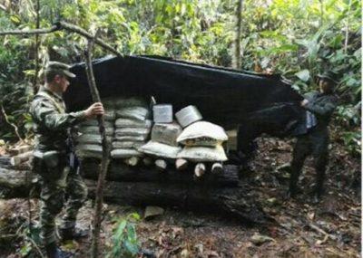 Ejército destruye laboratorio de procesamiento de cocaína en San Luis