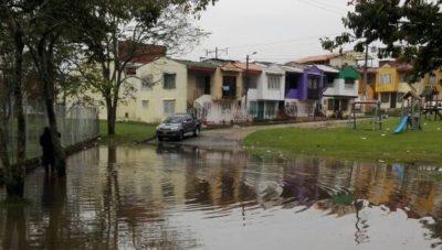 Fuerte aguacero causo daños en La Ceja