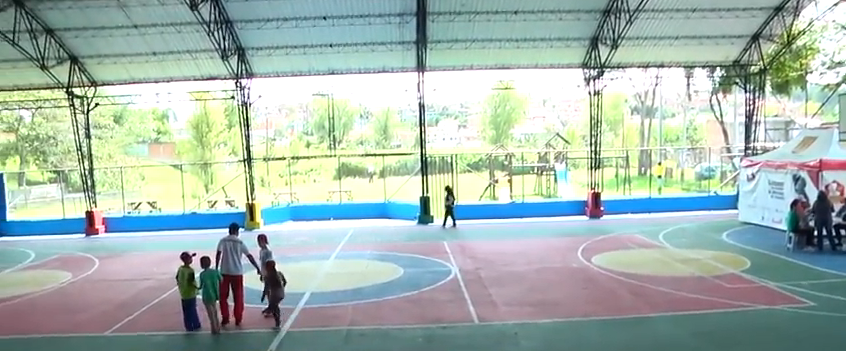 Placas polideportivas de Rionegro estarán llenas de color