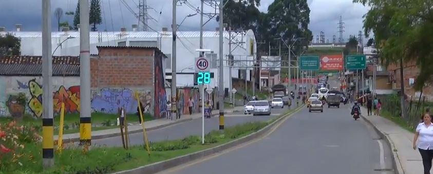 Rionegro implementa medidores de velocidad