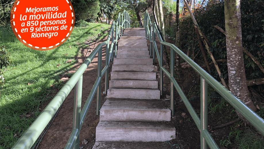 Escaleras en concreto mejoran movilidad