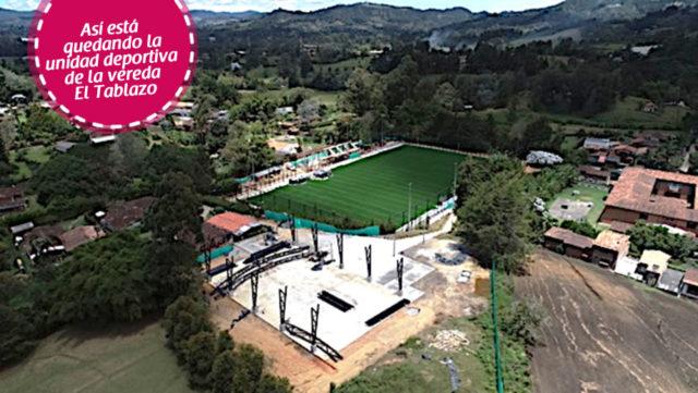 Vereda El Tablazo ya cuenta con Unidad Deportiva